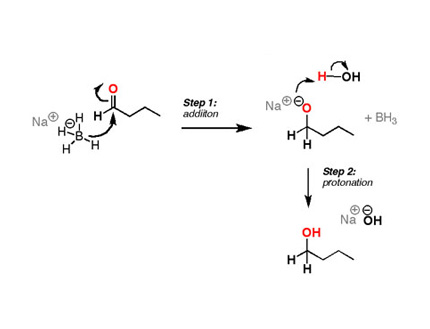 sodium borohydride reduction Sodium borohydride is a mild and selective reducing reagent in ethanol solution it reduces aldehydes and ketones rapidly at 25°c, esters very slowly, and is inert toward functional groups.
